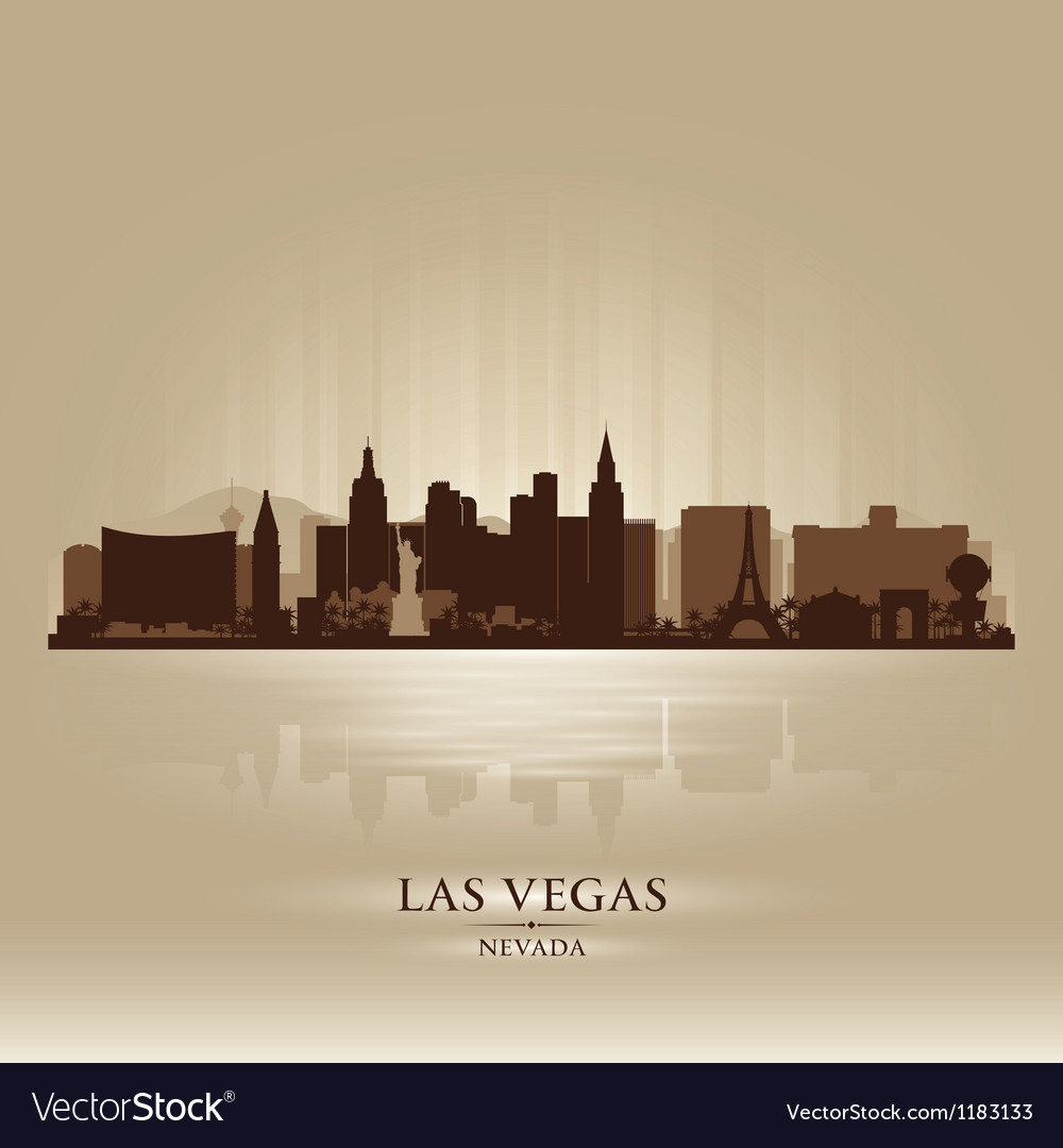 Las Vegas Nevada skyline city silhouette vector image
