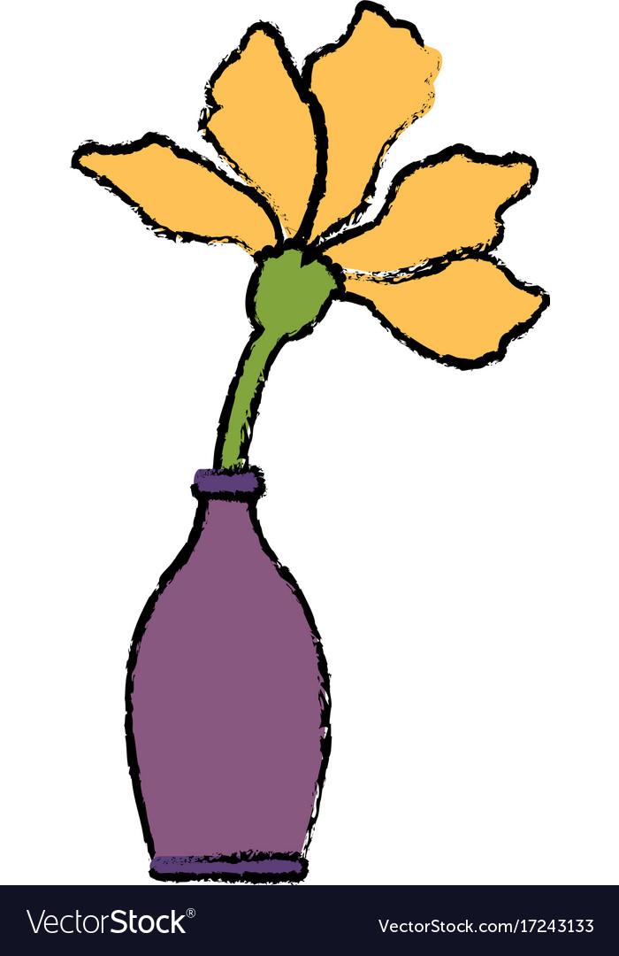 Flower in vase royalty free vector image vectorstock flower in vase vector image reviewsmspy