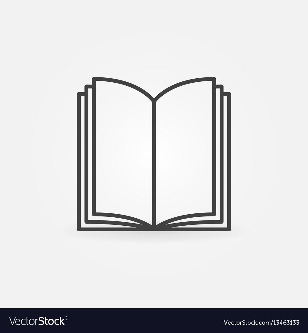 Open book thin line icon vector image