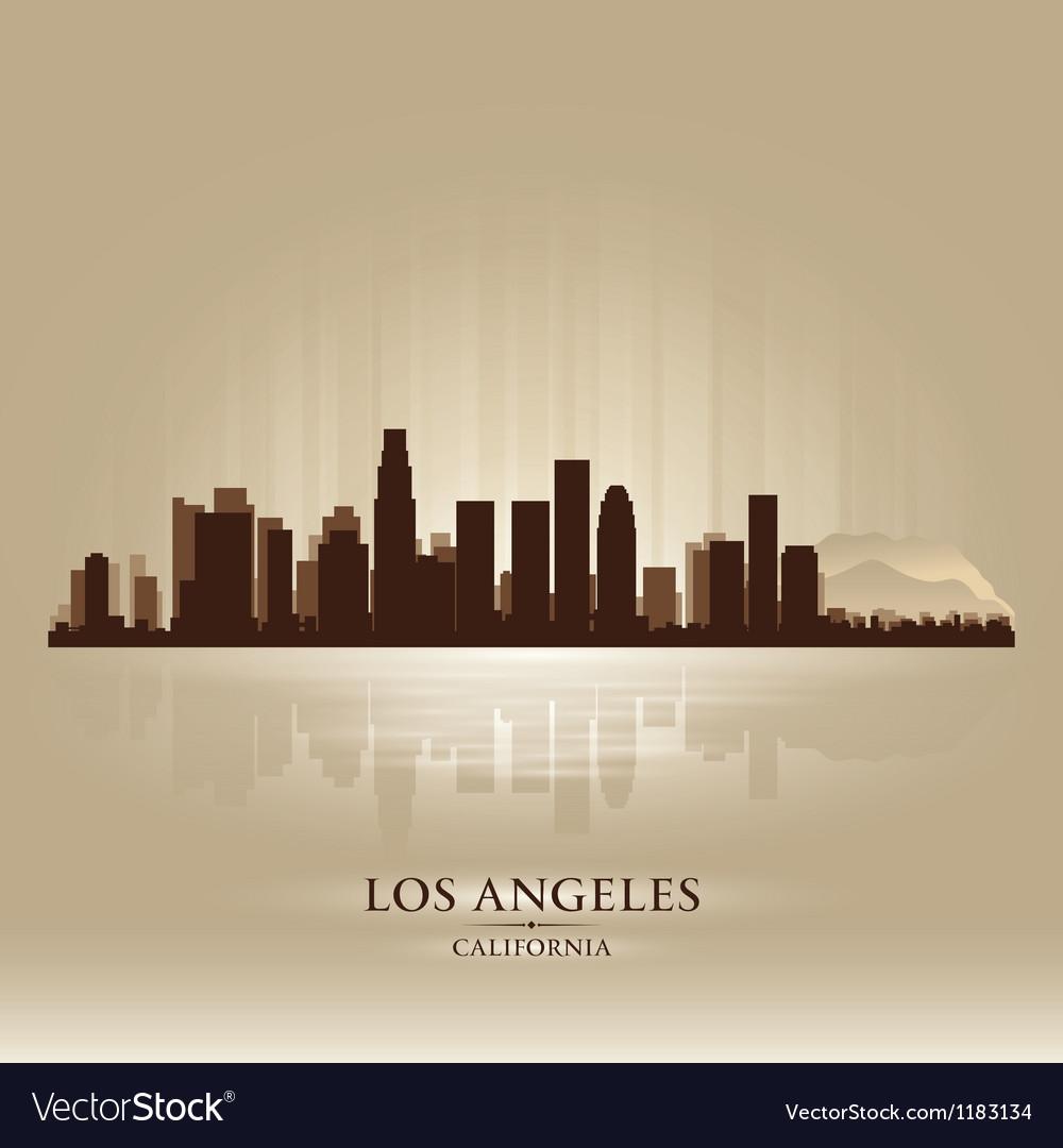 Los Angeles California skyline city silhouette vector image