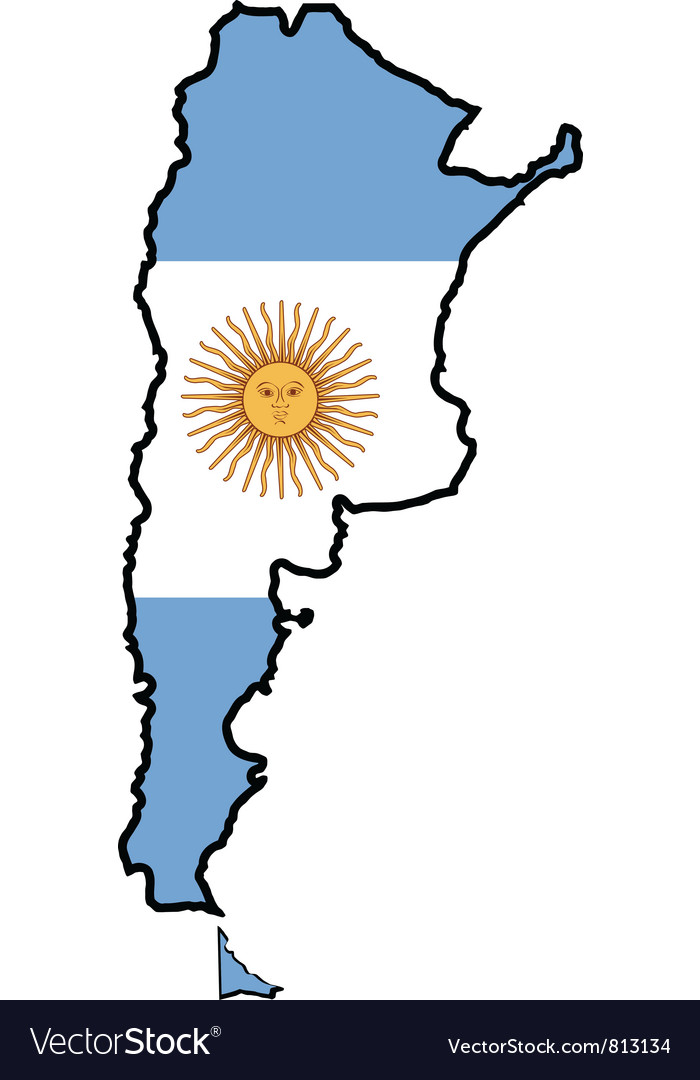 Map In Colors Of Argentina Royalty Free Vector Image - Argentina map vector