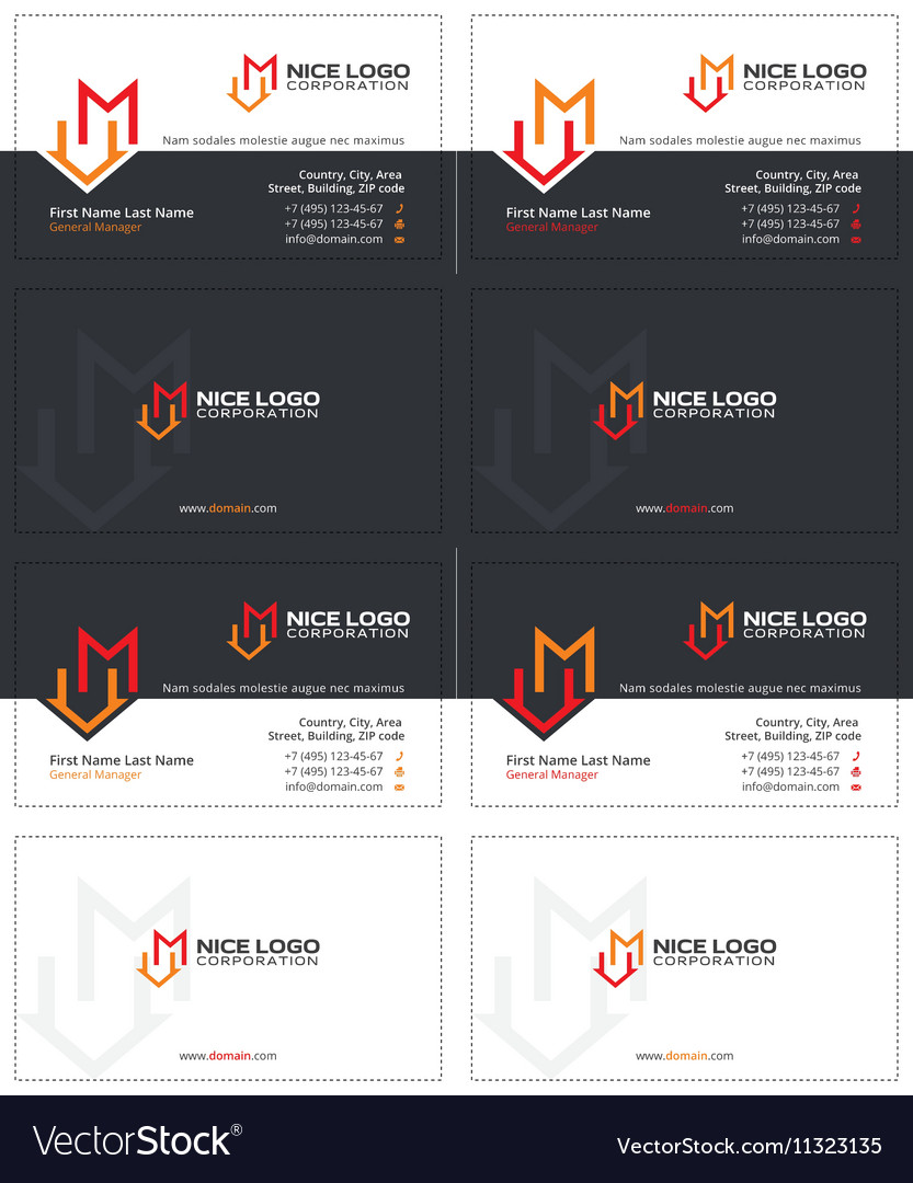 M house business card 1 vector image
