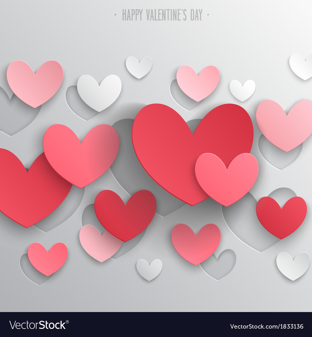 Paper hearts1 vector image