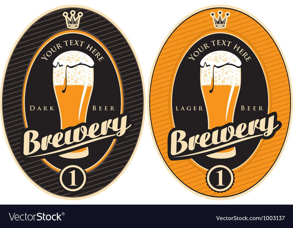 Labels for the brewery Vector Image