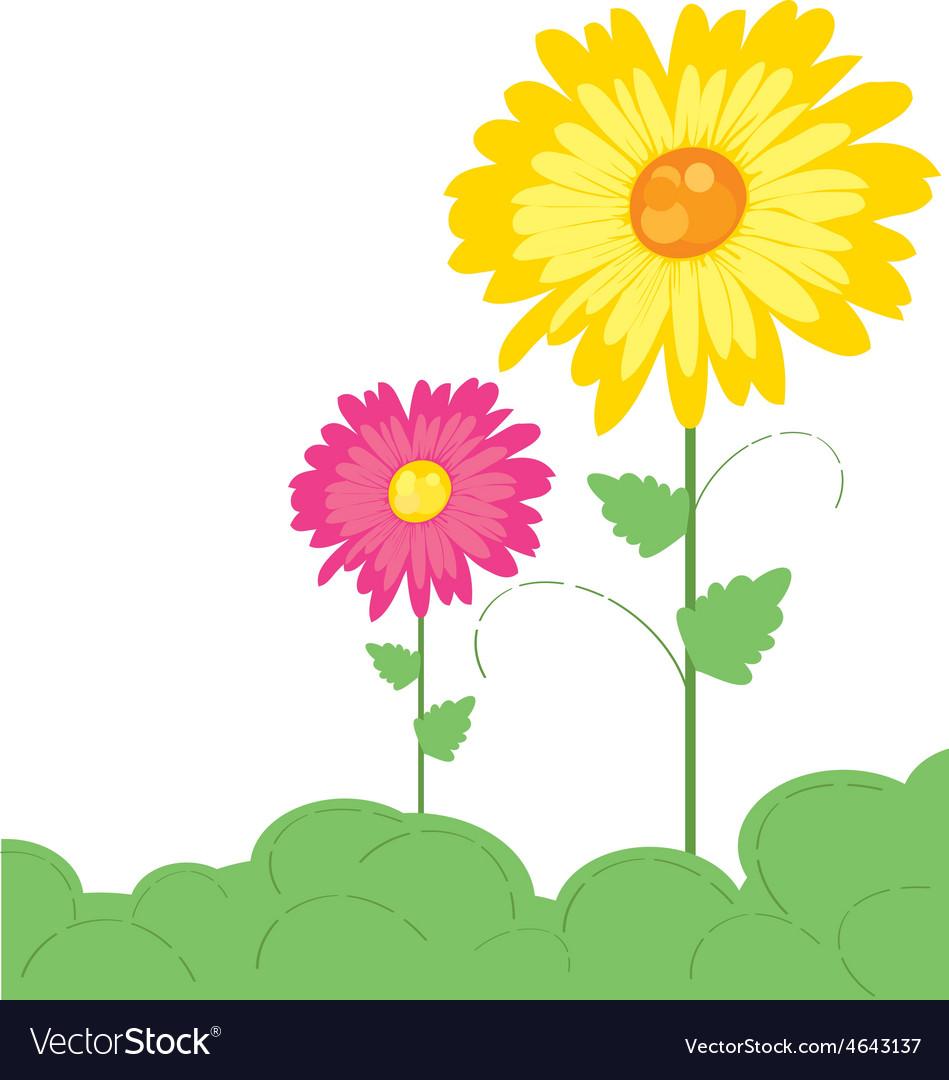 Flowers pattern 4 vector image