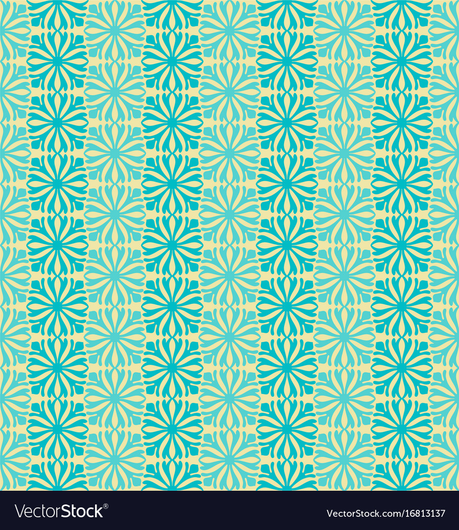 Sky blue flower seamless pattern background vector image