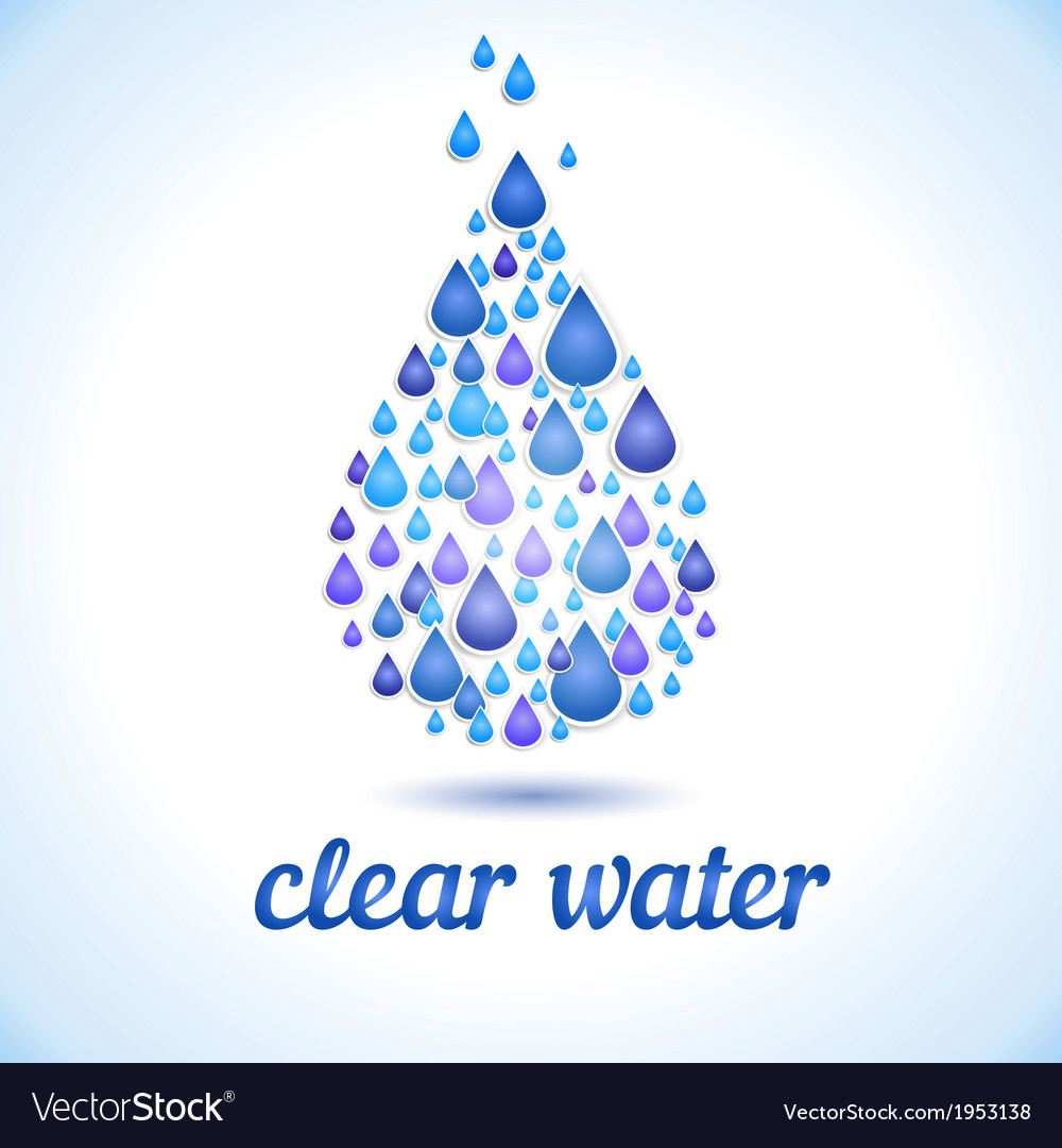 Drinking and Water Label vector image