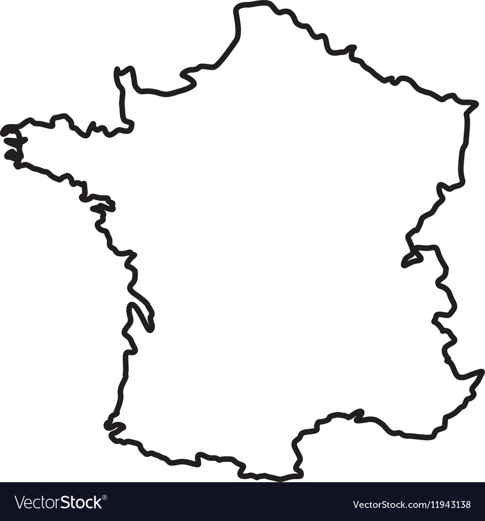 France Map Silhouette Royalty Free Vector Image - Map silhouette