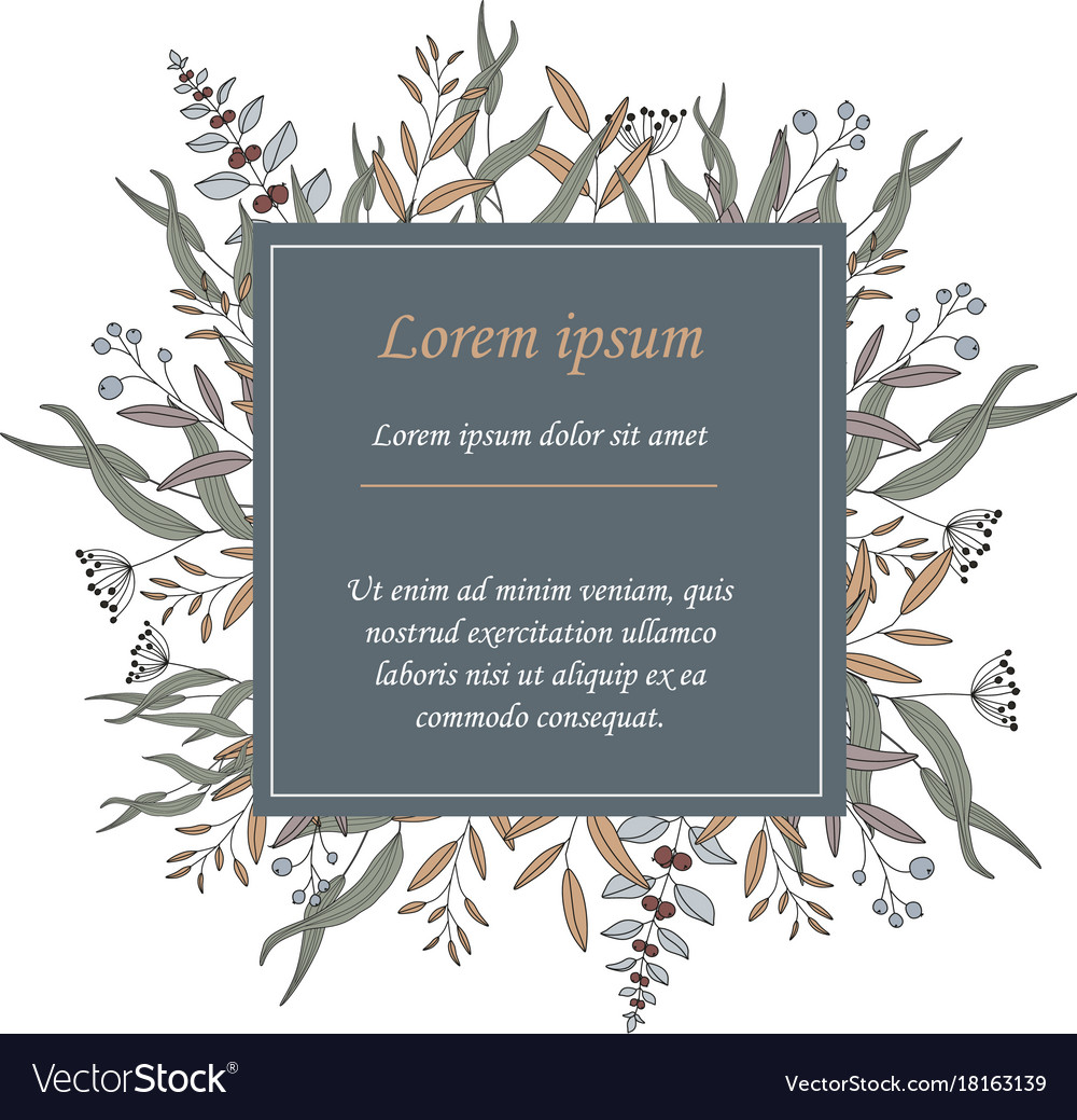 Invitation template or greeting card vector image