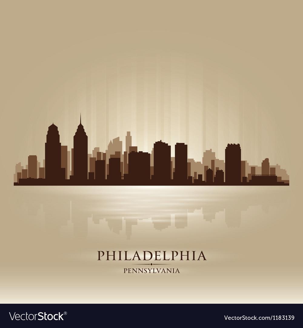 Philadelphia Pennsylvania skyline city silhouette vector image