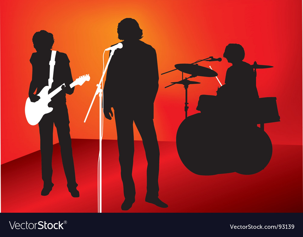 Rock out vector image