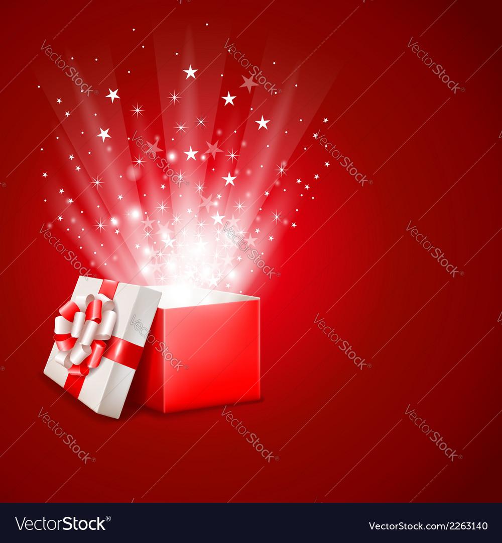Magic gift vector image