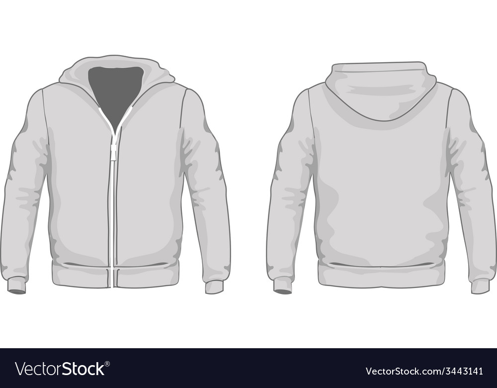 Mens hoodie shirts template Front and back views vector image
