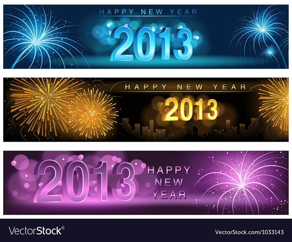 New Year Banner vector image