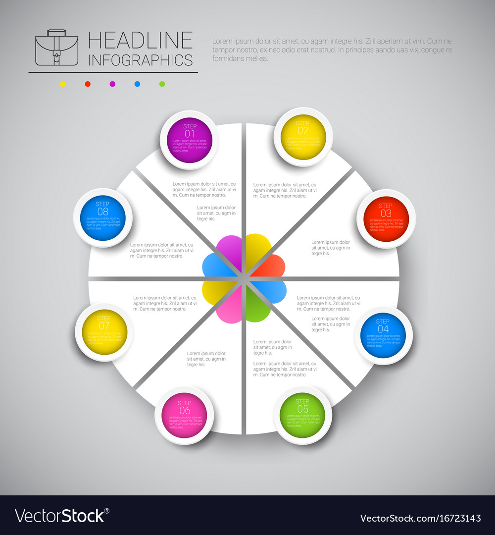 Headline infographic chart pie diagram design vector image nvjuhfo Images