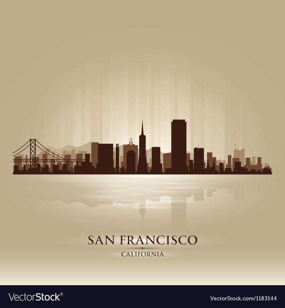 San Francisco California skyline city silhouette vector image