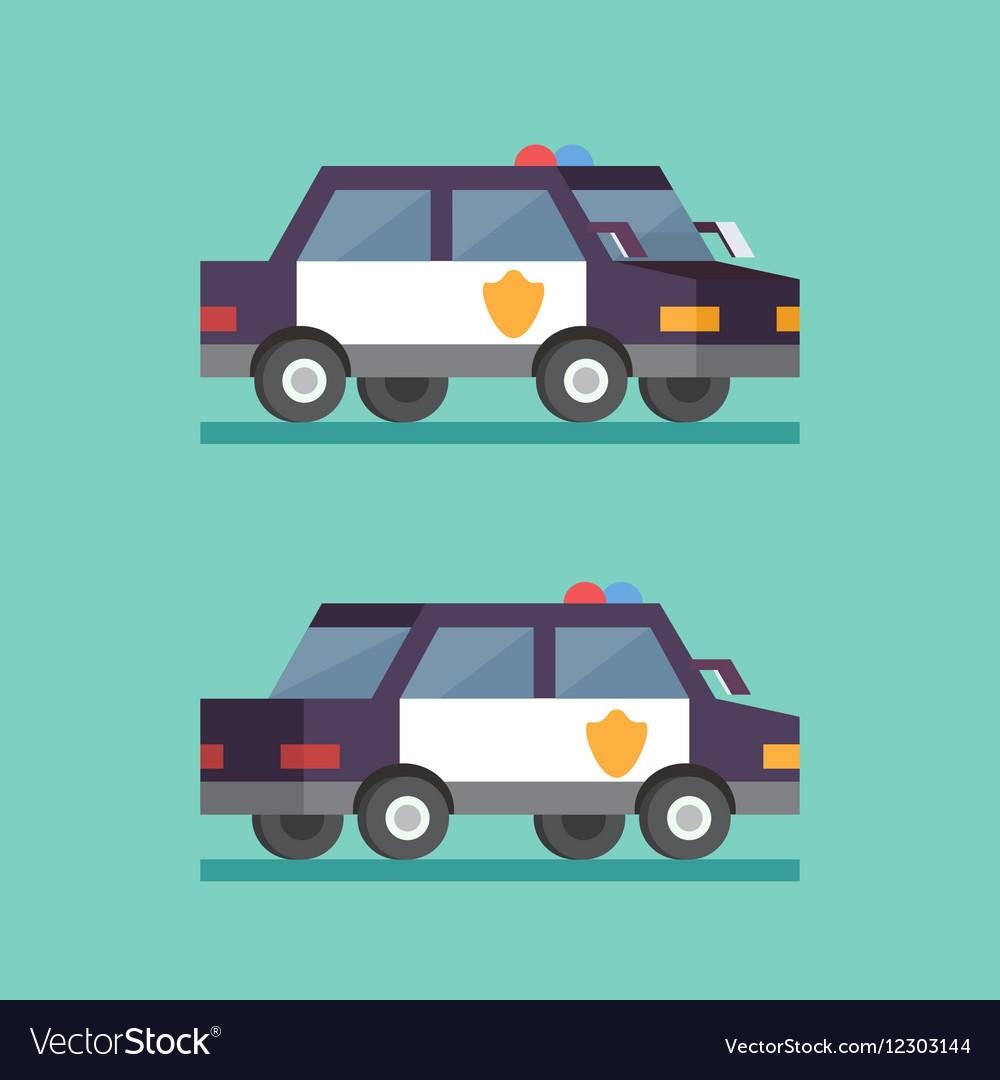 Police car Security patrol criminal department vector image