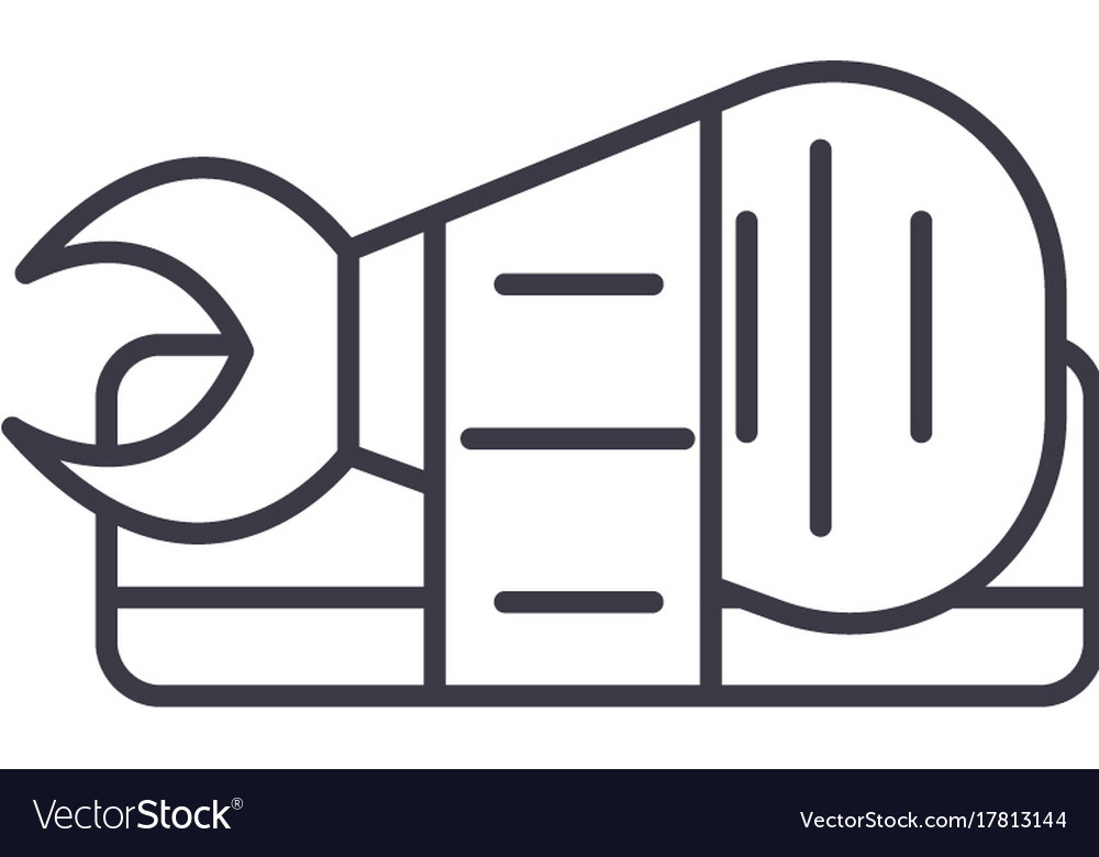 Sushi roll sign line icon sign vector image