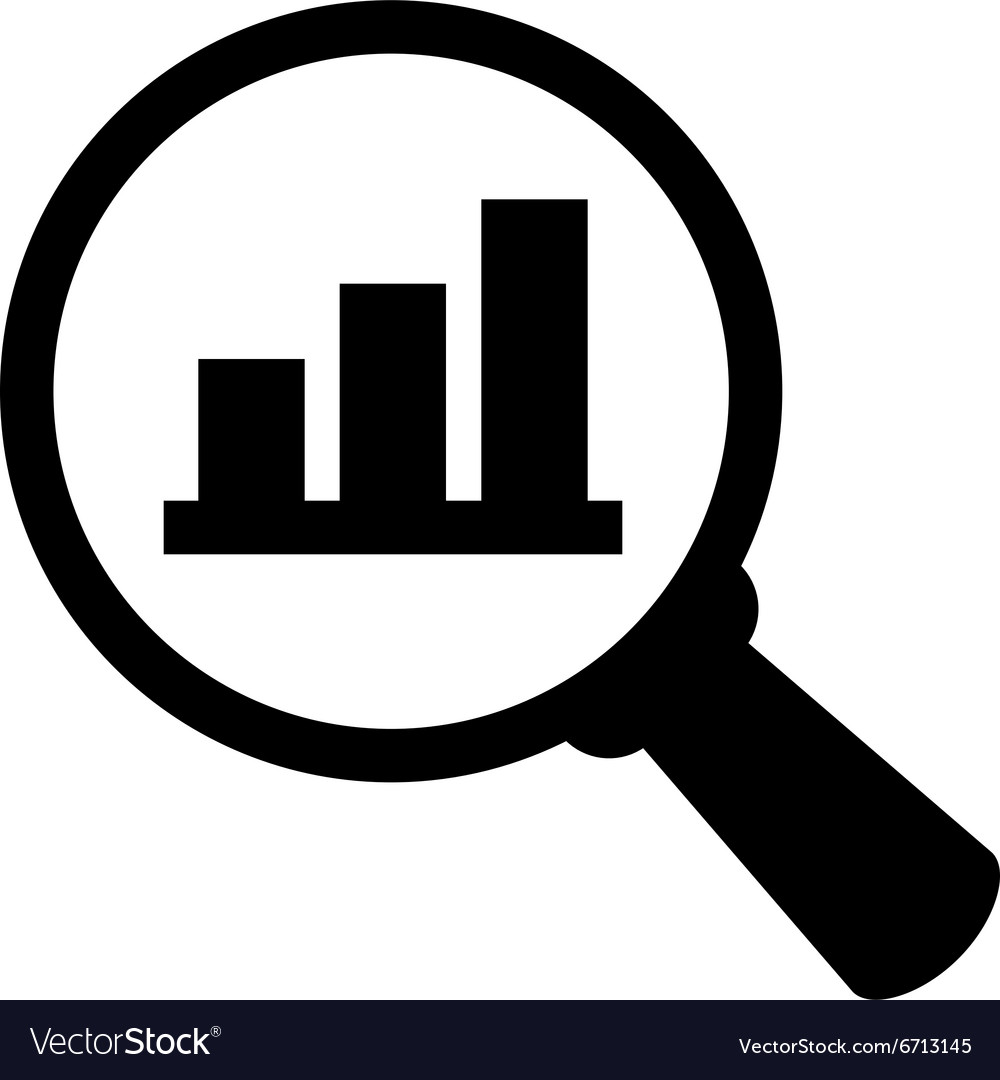 Business analysis icon Royalty Free Vector Image