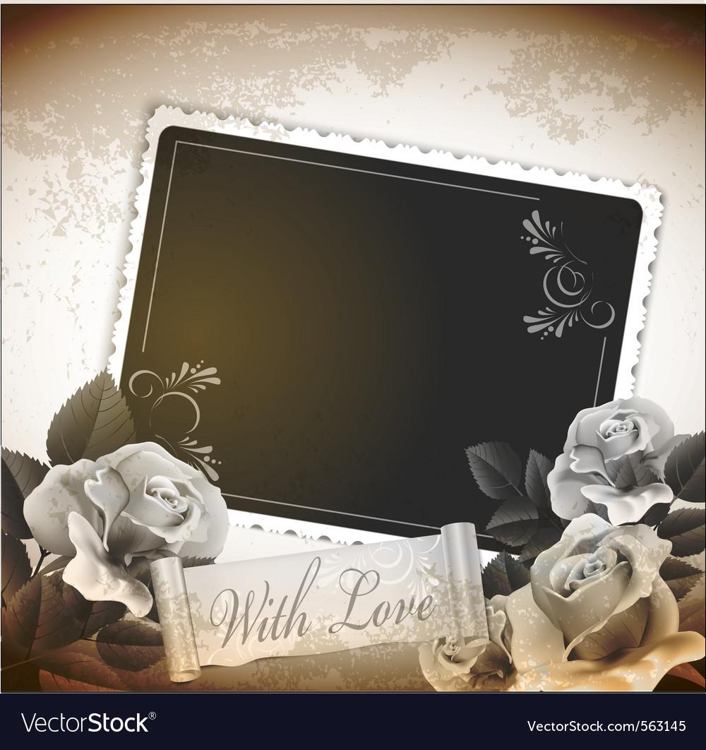 Grunge romantic vintage background vector image