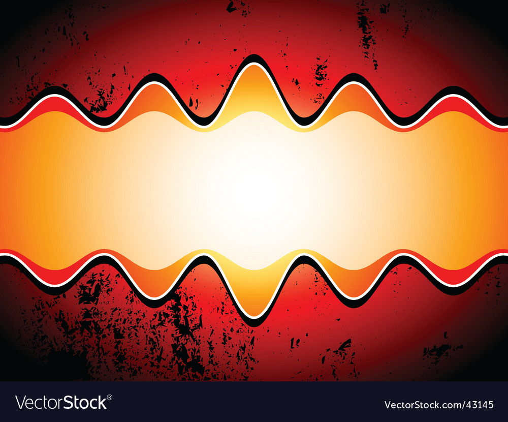 Grunge sound waves vector image