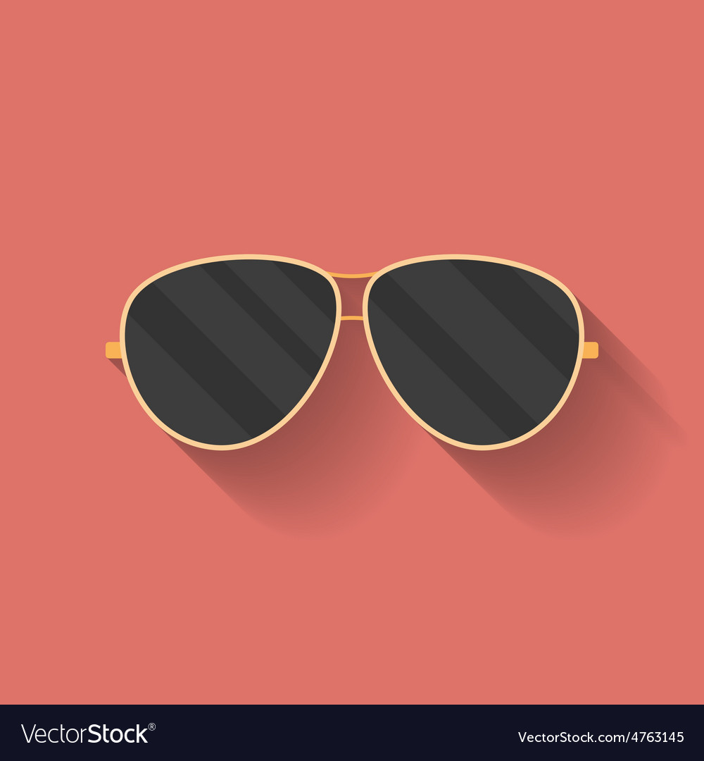 Icon of police or cop sunglasses glasses Flat vector image