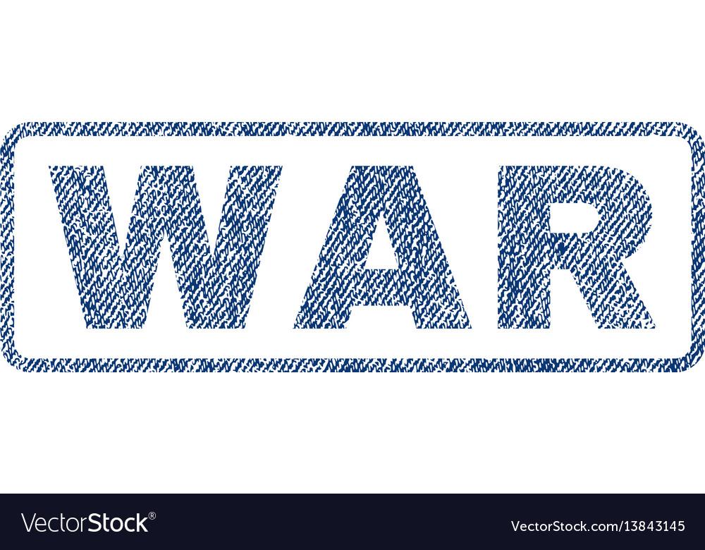 War textile stamp vector image