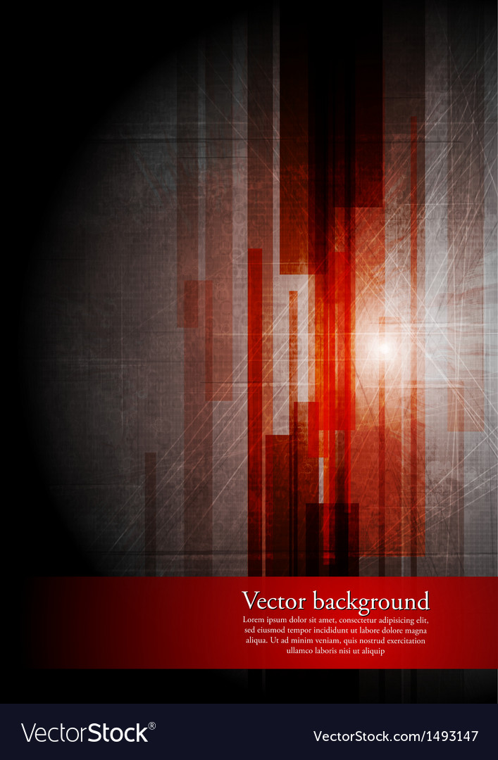 Abstract grunge hi-tech design vector image