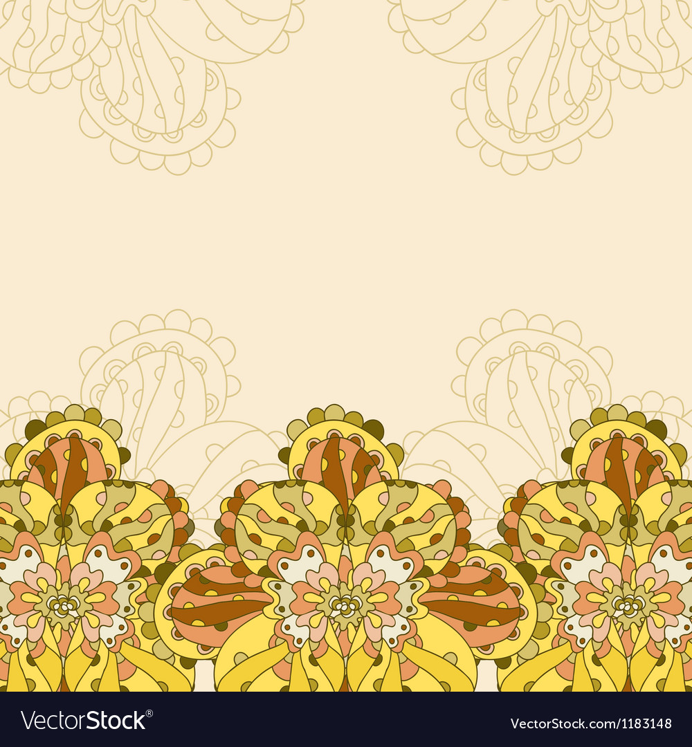 Decorative floral card with place for text vector image