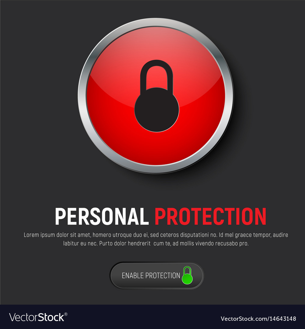 Design of a black web banner with a red round vector image