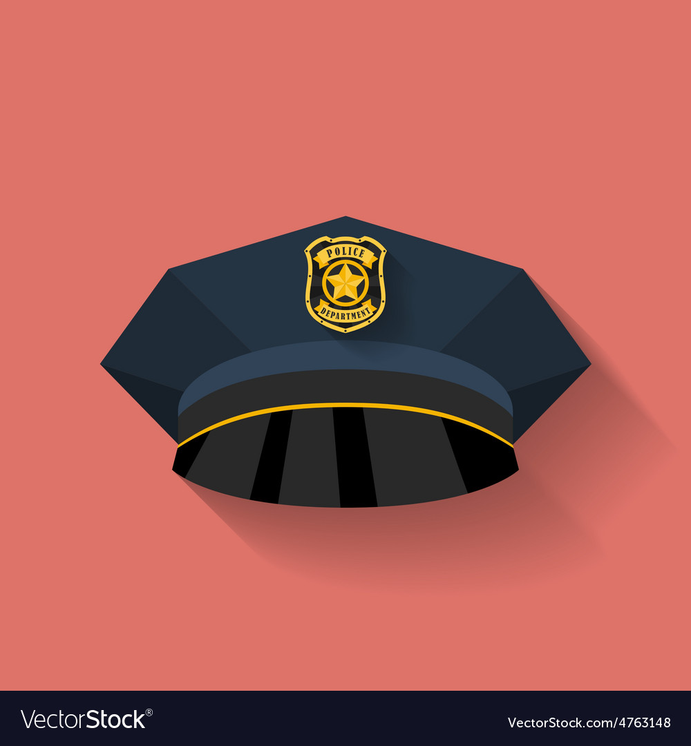 Icon of Police hat cop hat Flat style vector image