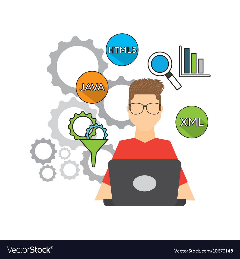 Software Developer And Programmer Royalty Free Vector Image