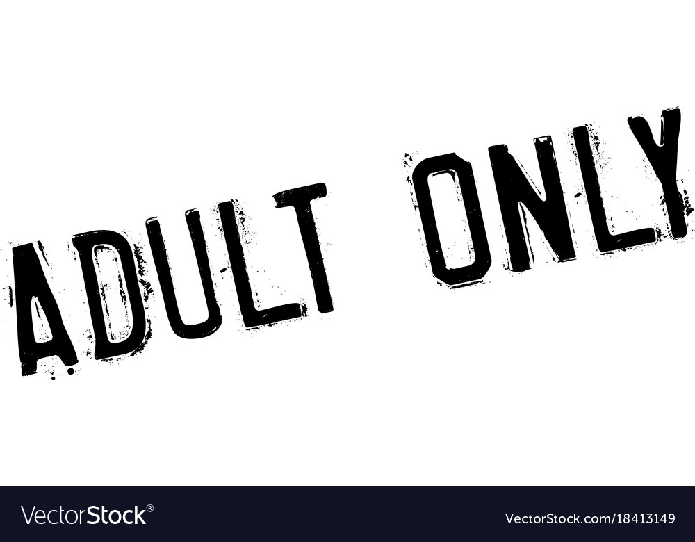 Adult only rubber stamp vector image
