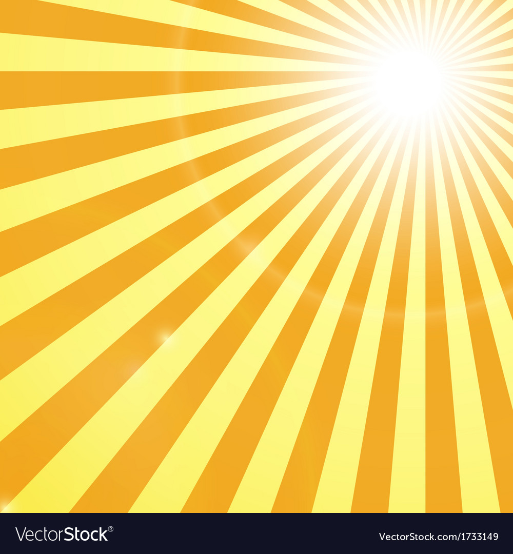 Shining Sun Rays Backgroung vector image