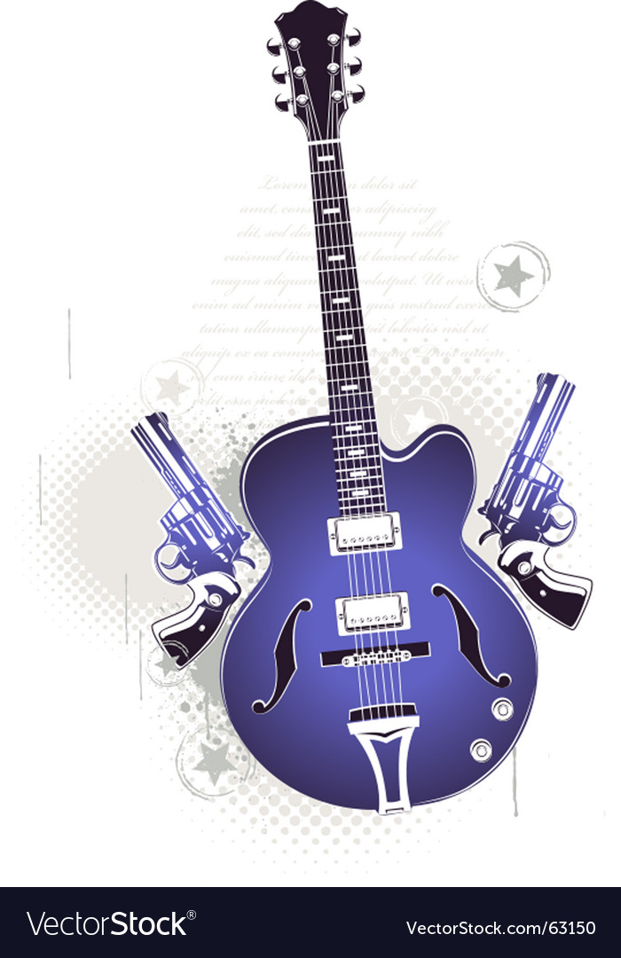 Rock n roll image vector image