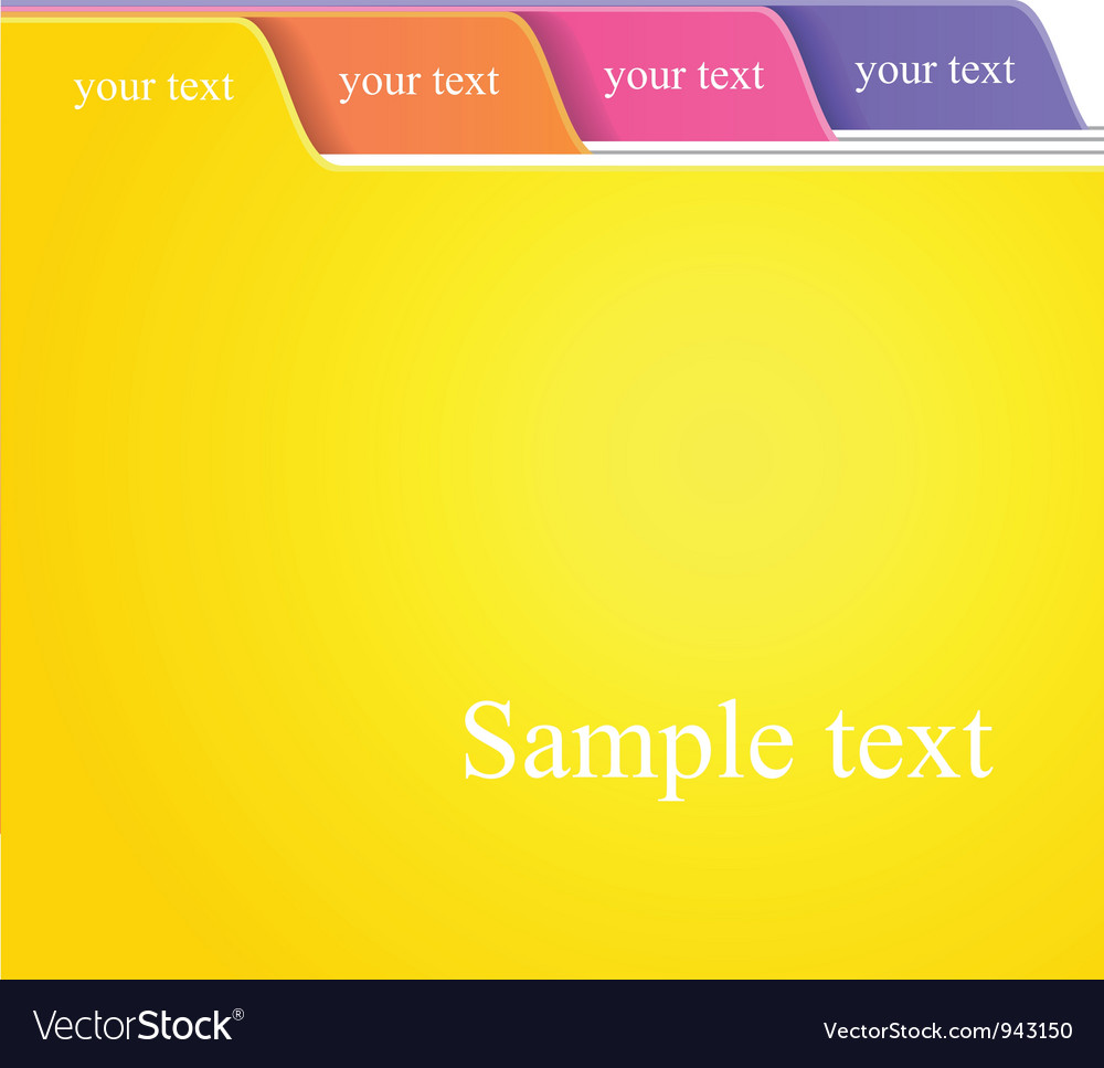 Folder tabs vector image