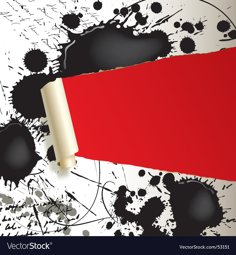 Ripped paper with blots Vector Image