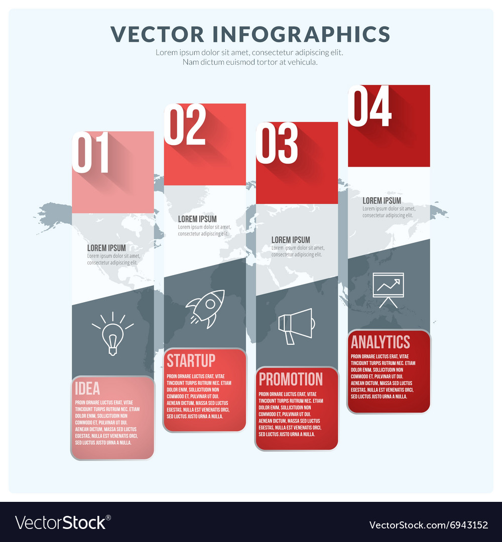 Abstract Infographic Design Element Flat Style for vector image