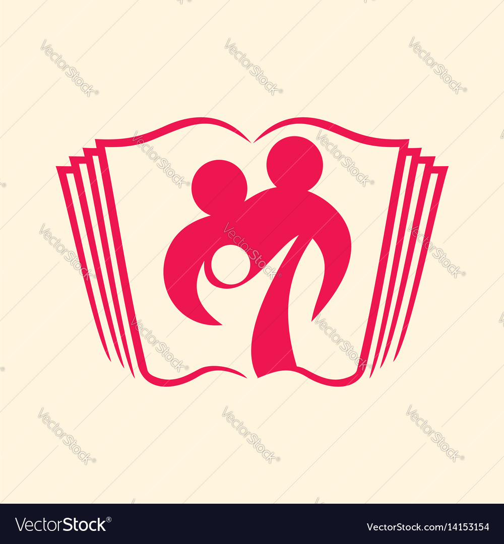 Logo of the christian family vector image