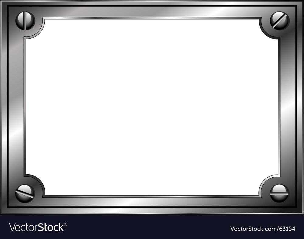 Steel frame vector image