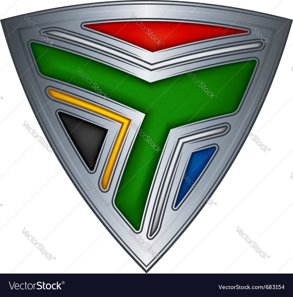 Steel shield south africa vector image