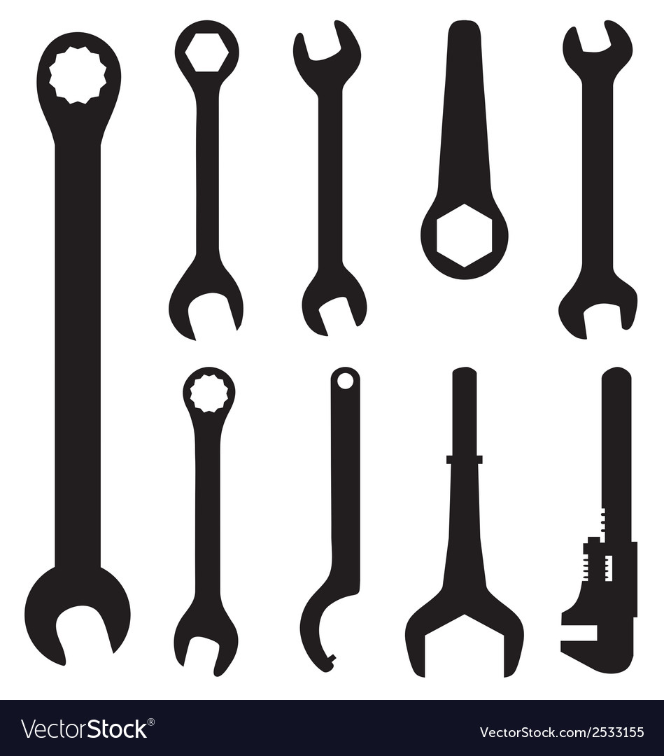 Screw wrench vector image