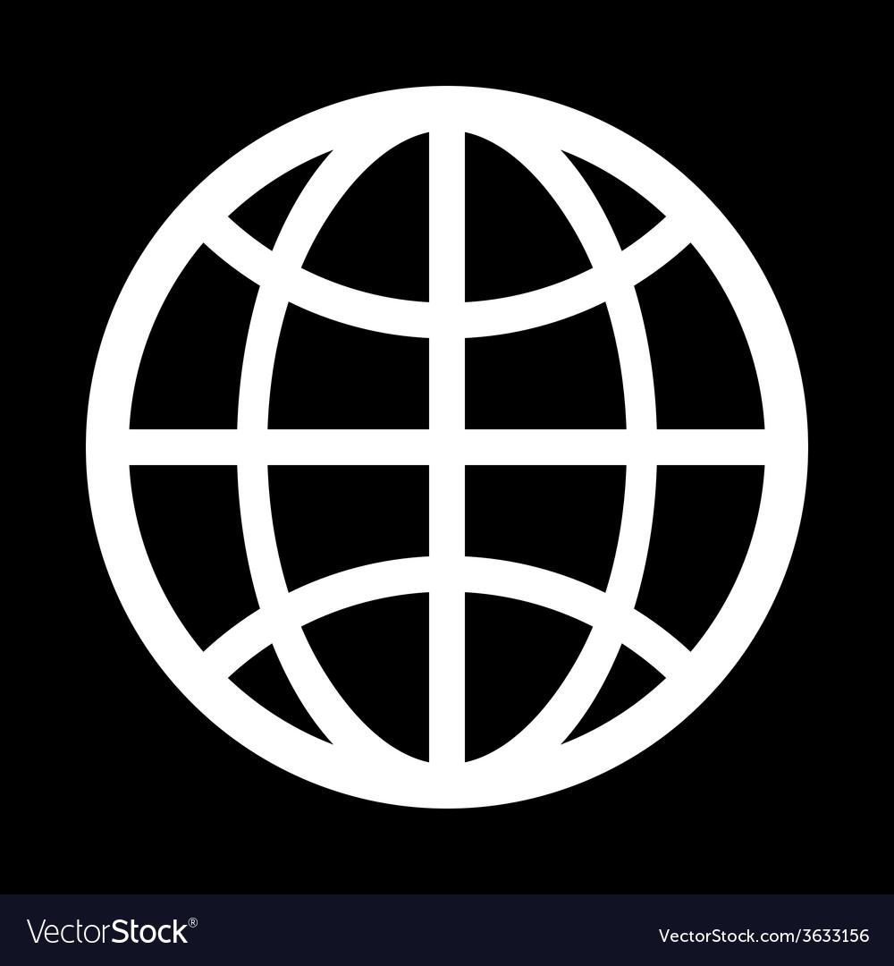 Icon globe vector image