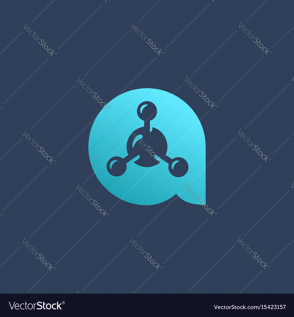 Letter a molecule logo icon design template vector image