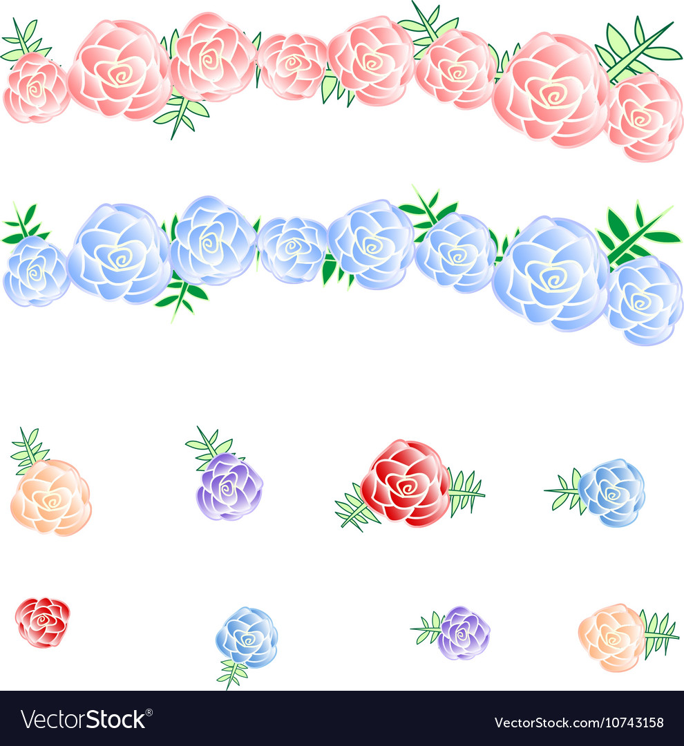 Flower Crown Rose Headband vector image