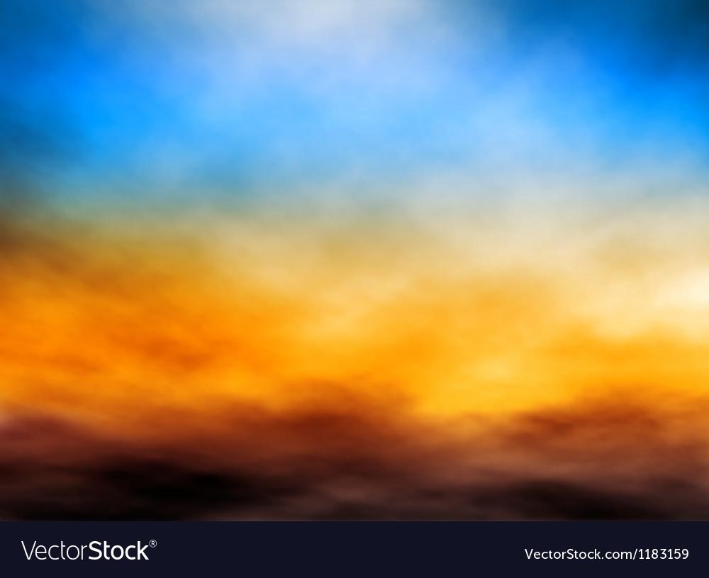 Cloud bank vector image