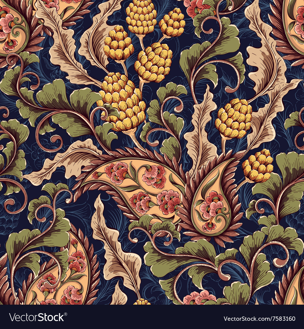 Victorian seamless pattern vector image