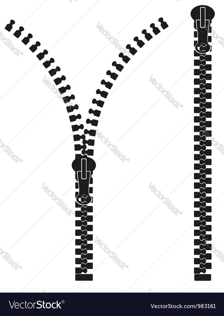 Zipper 04 vector image