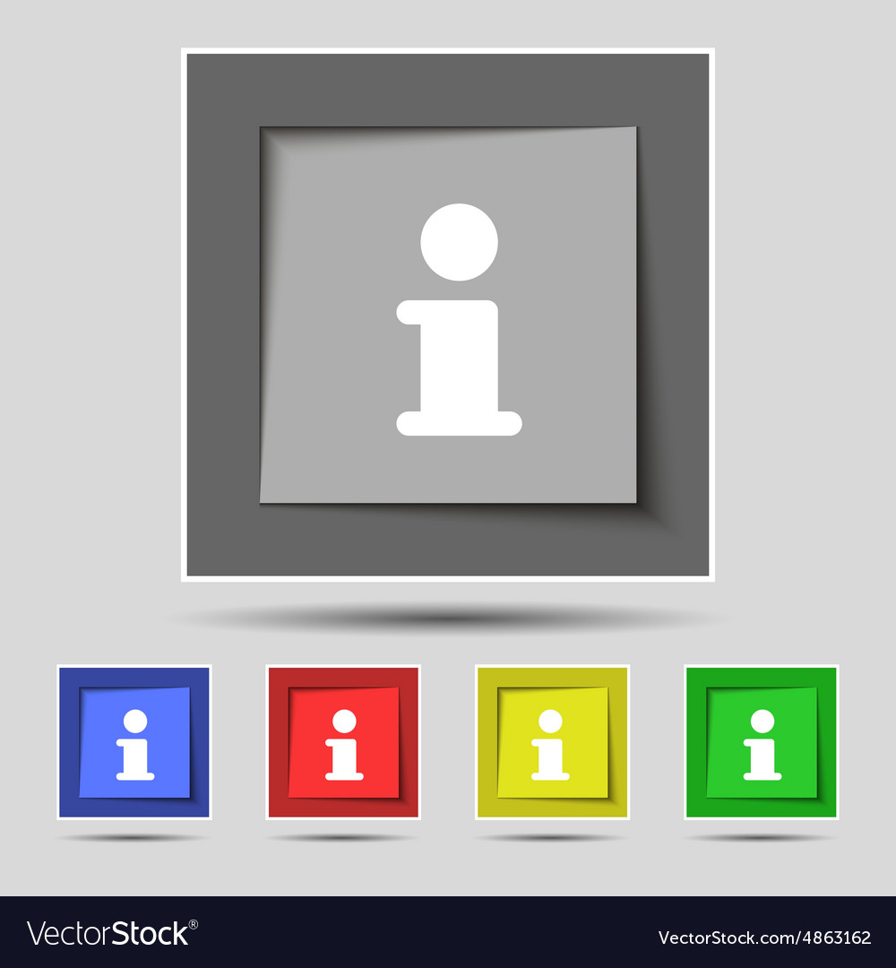 Information Info icon sign on the original five vector image