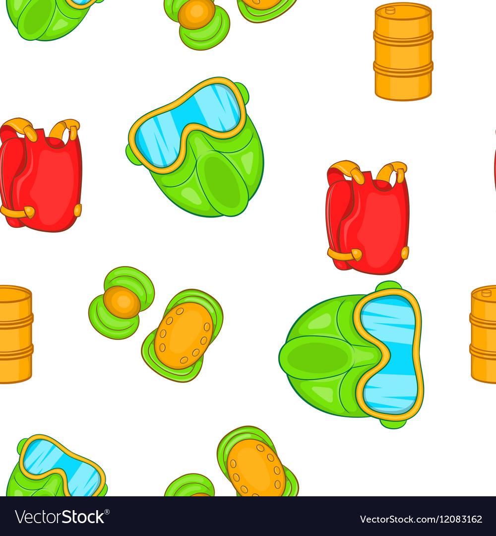 Shooting paintball pattern cartoon style vector image